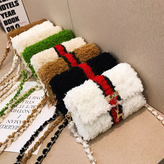 Hand-woven wool knitting bag diy material package homemade HyunA handbags vibrato with Crossbody wool