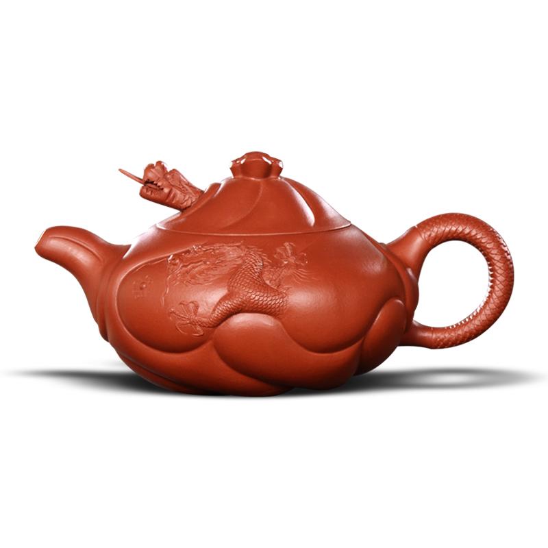 重器!高端名师紫砂茶壶名家周孝忠鱼化龙壶大红袍送礼珍藏新品