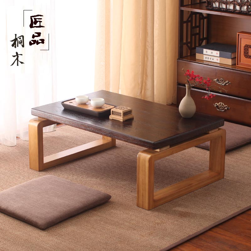 Japanese Tatami Coffee Table Solid Wood Kang Table Balcony Mini Zen