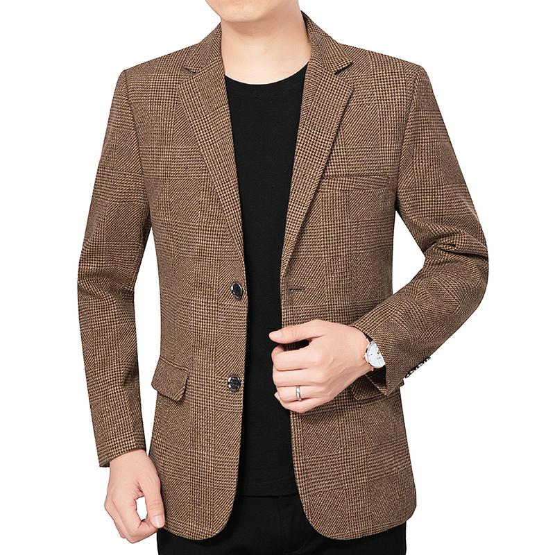 上衣外套男2020秋季新款面料夹克堡利郎挺括有型好男士西装西服