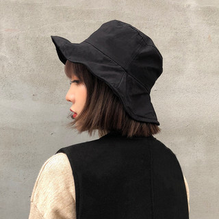 The new foldable ruffled fisherman hat female autumn breathable shade steel wire witch basin hat wild hat Korean version of the tide