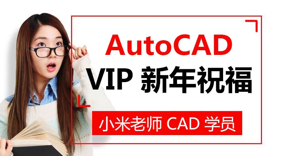 Autocad小米老师正式VIP学员新年祝福