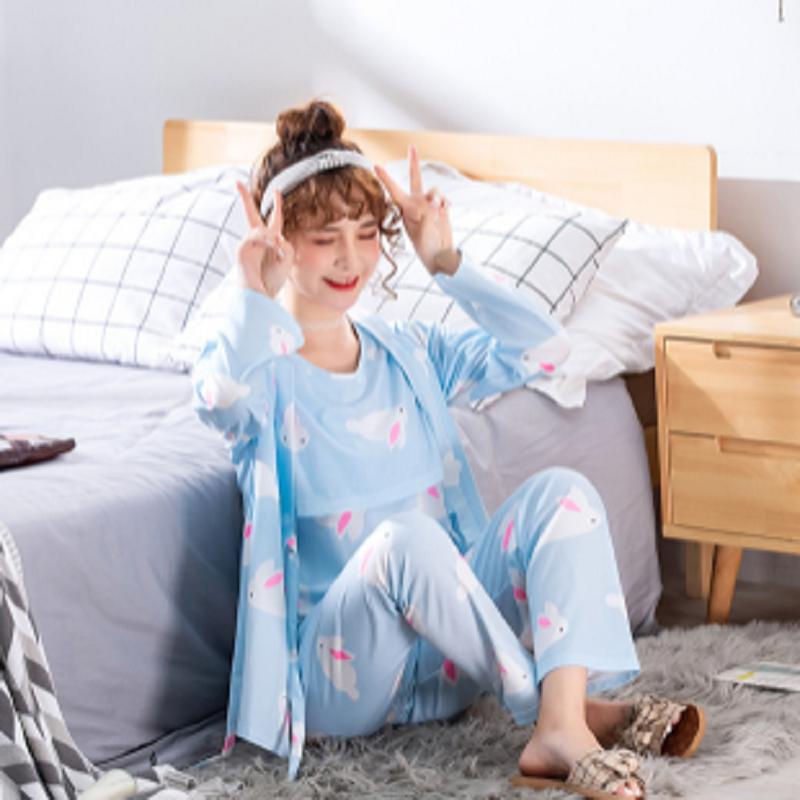 孕妇秋衣秋裤套装月子服纯棉产后睡衣秋季长袖怀孕哺乳期产妇喂奶