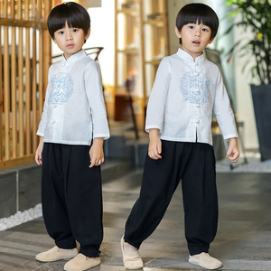 Boys Tang Suit for Kids Boy hanfu chinese style Tang suit children national style children clothing baby spring retro costume Chinese style clothing
