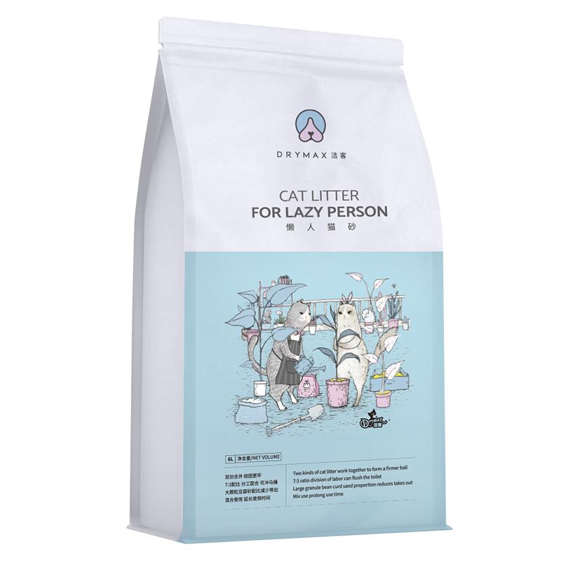 洁客猫砂豆腐膨润土混合型原味除臭无尘2.8kg公斤懒人猫砂6L包邮