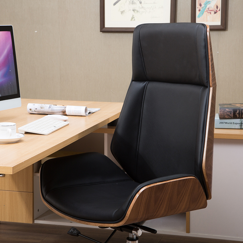 Boss Chair Solid Wood Computer Chair Nordic High Back Executive Chair  Office Modern Simple Joy Ode