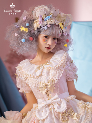 taobao agent Little bear boy pink and white KC classical doll lolita headdress full reservation