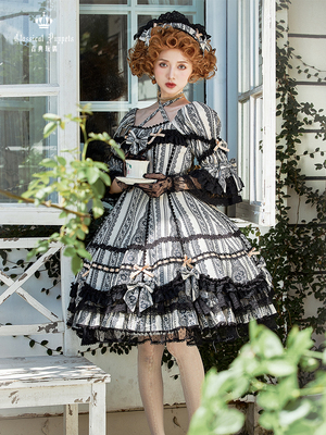 taobao agent Antique Lace OP Classical Doll Lolita Dress Full Reservation