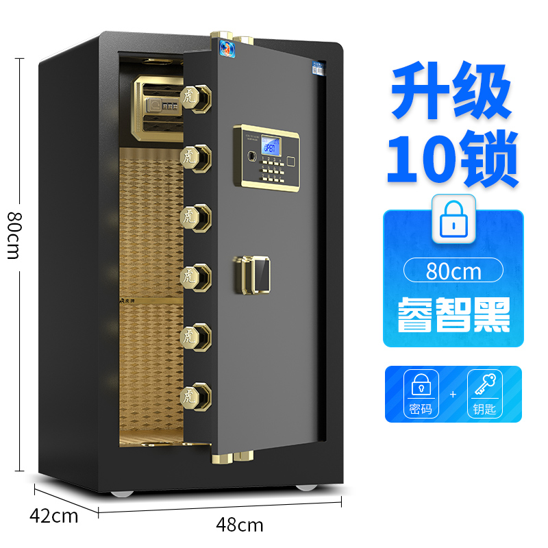 80 SINGLE DOOR WISE BLACK (ELECTRONIC PASSWORD + KEY)
