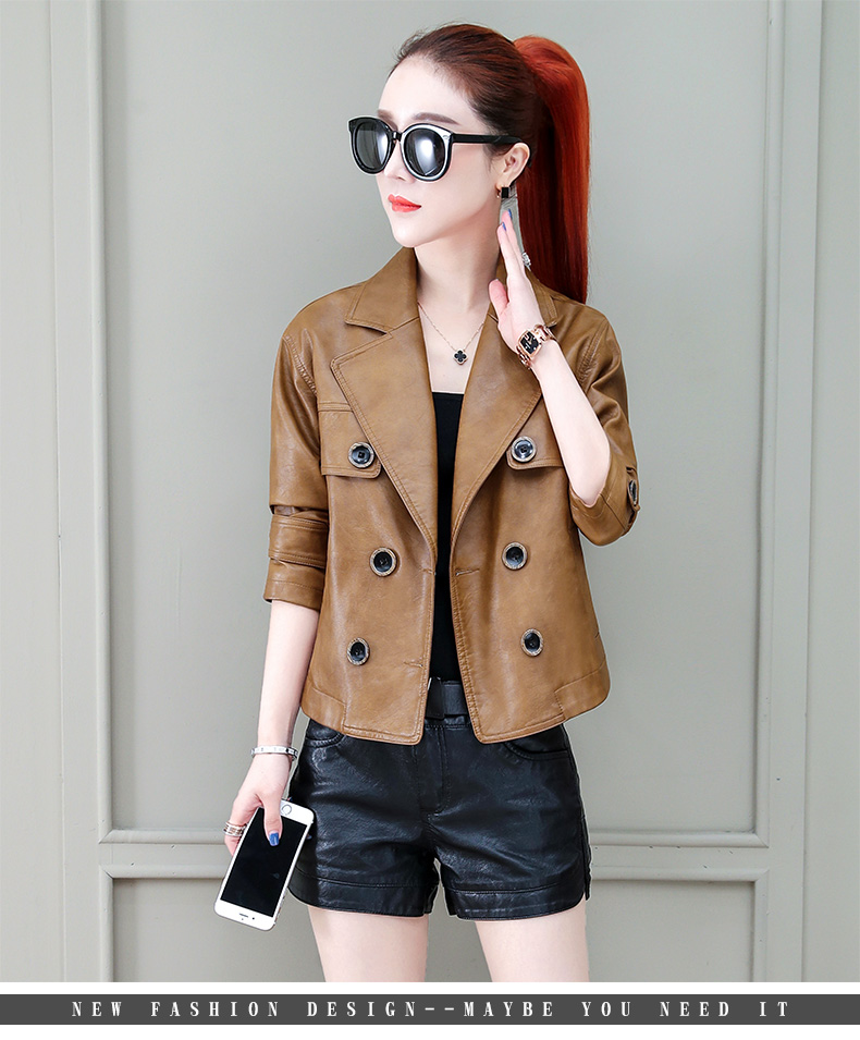 Locomotive jacket women 2020 new autumn and winter fashion small air fried street short spring and autumn small leather jacket tide 61 Online shopping Bangladesh
