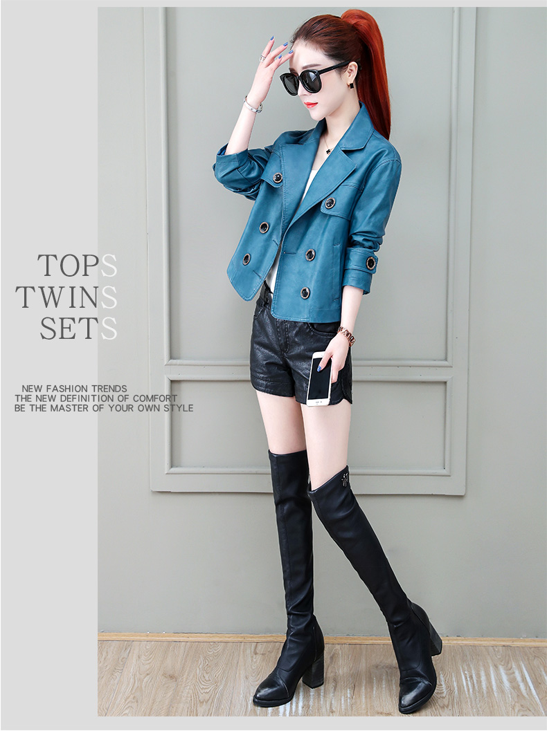 Locomotive jacket women 2020 new autumn and winter fashion small air fried street short spring and autumn small leather jacket tide 54 Online shopping Bangladesh