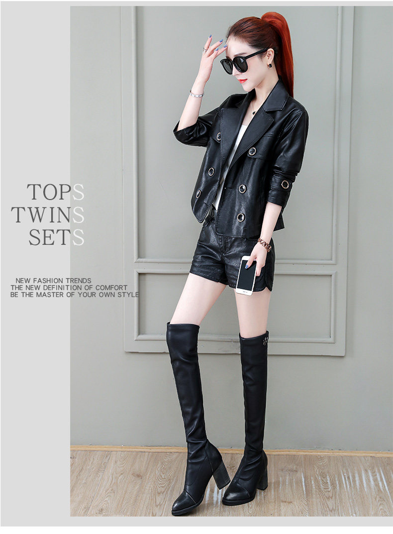Locomotive jacket women 2020 new autumn and winter fashion small air fried street short spring and autumn small leather jacket tide 58 Online shopping Bangladesh