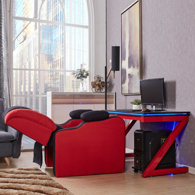 Simple computer desktop table home single Internet cafe electric venue competitive game office net coffee wrought iron sofa chair