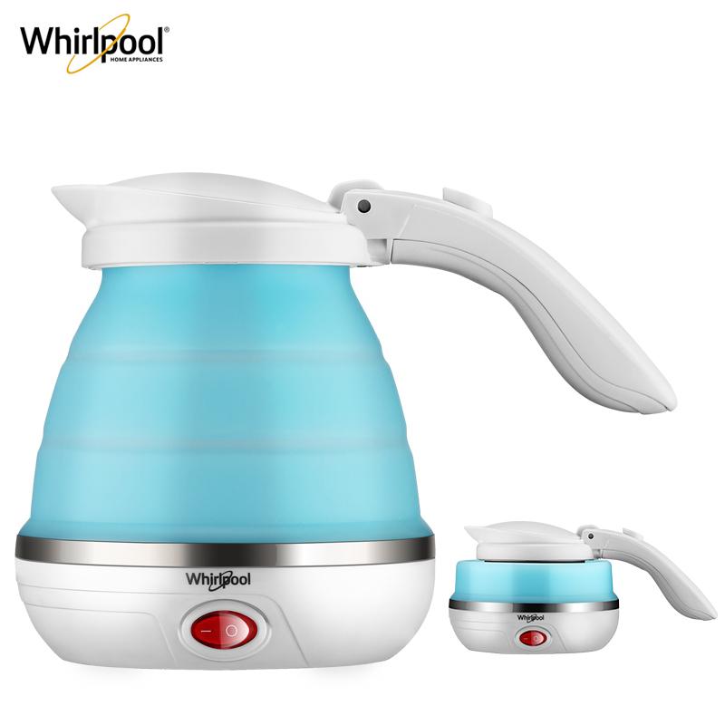 【美國百年老牌】Whirlpool 惠而浦 便攜折疊電熱水壺500ml+送旅游套裝 99元包郵(149-50元券)