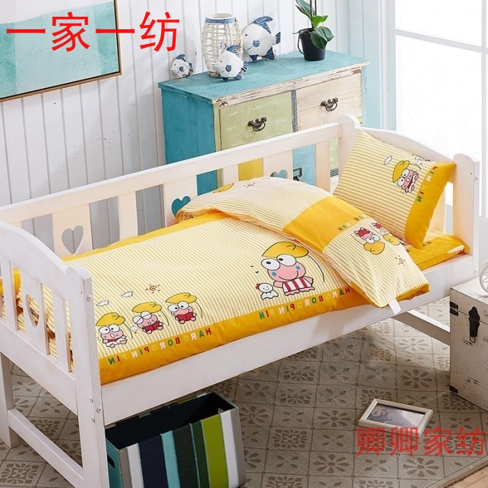 Kindergarten quilt three sets of infants and children six sets of Frog Prince pure cotton core children spring and Autumn Winter quilt