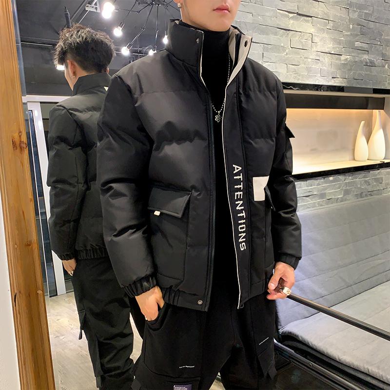 Áo khoác cotton nam mùa đông 2019 phiên bản mới của Hàn Quốc theo xu hướng dày đẹp trai xuống áo khoác cotton thủy triều mùa đông - Bông