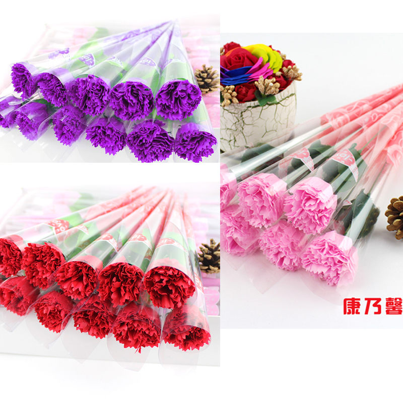 Light-colored carnation mixed color 50 (red pink)