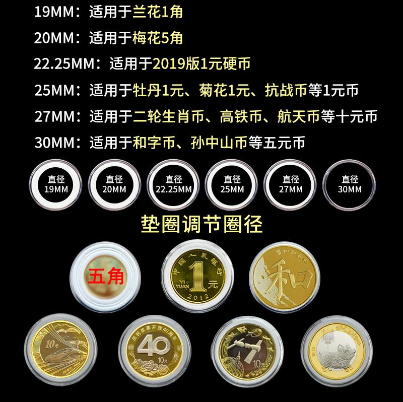 【20個起購】30mm圓盒通用紀念幣保護盒白色墊圈改革豬年紀念幣硬幣保護墊圈#收藏#錢幣收藏#硬幣冊#保護袋#紀念