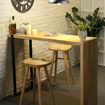 Solid Wood Living Room Small Dining Table Parion Bar Home Creative Kitchen Wall High Nordic Simplicity