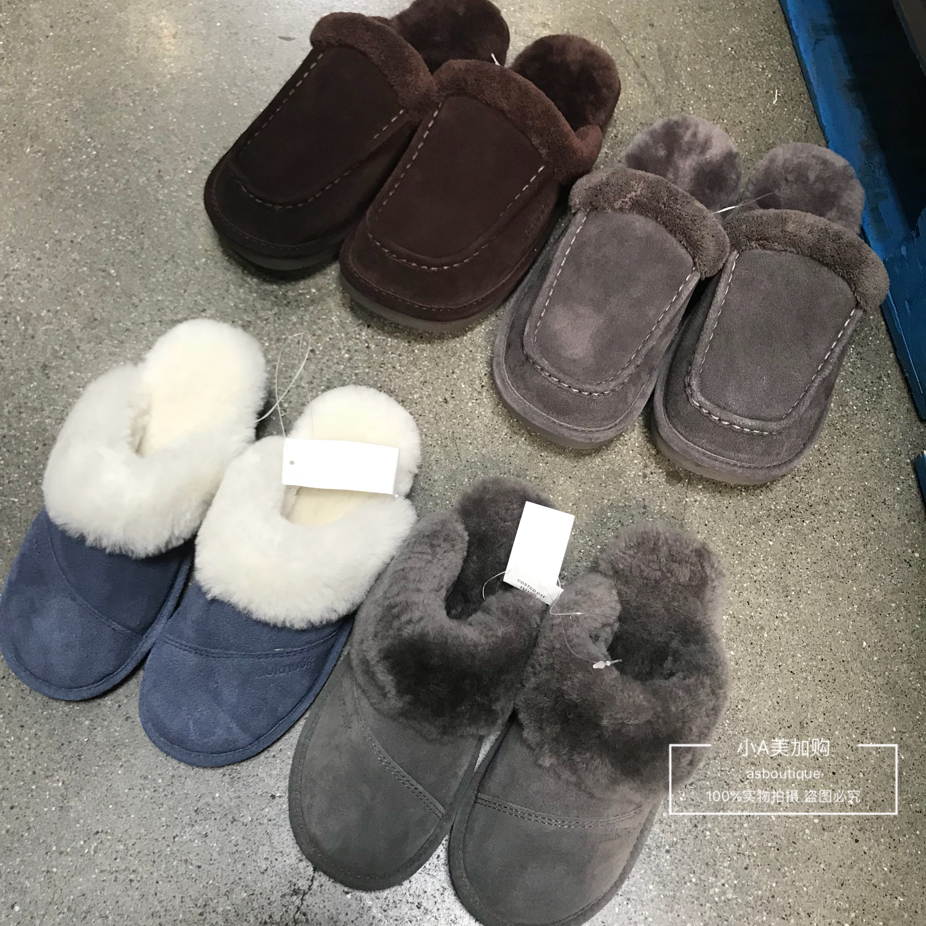 ddd6faacf Two pairs of minus 10 Canada Nuknuuk sheepskin suede men and women slippers  home shoes plush shoes winter shoes
