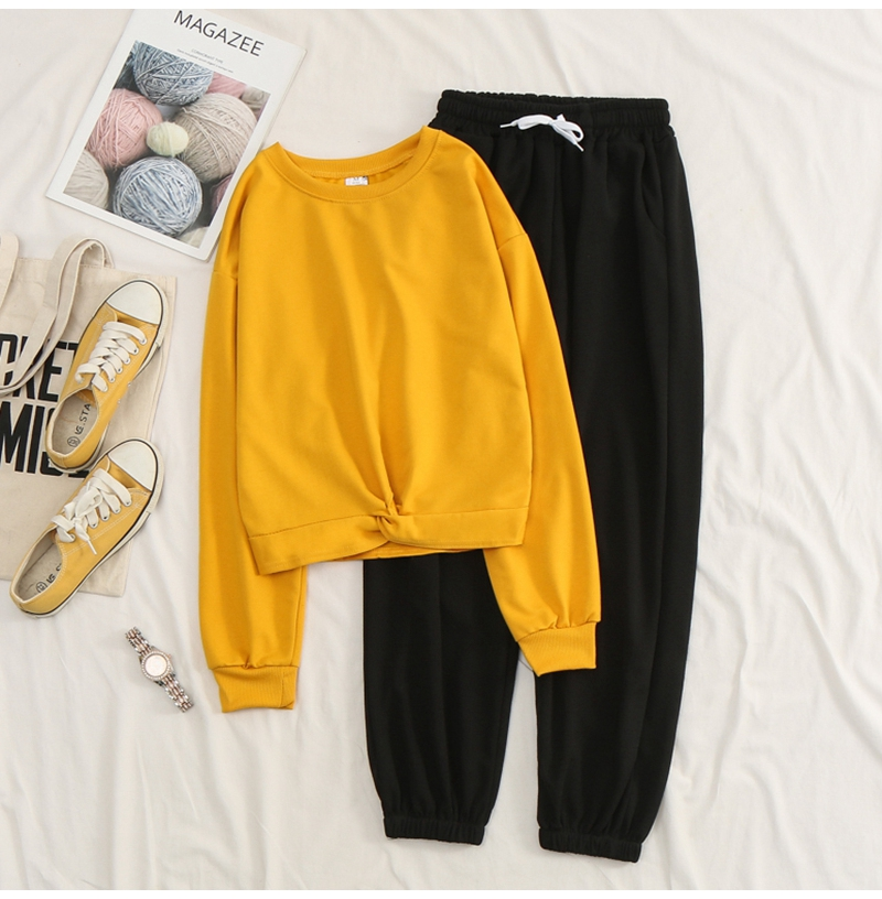 Net-a-Go sports suit women's autumn 2020 new Korean version of loose fashion style air-reducing thin casual two-piece set 40 Online shopping Bangladesh
