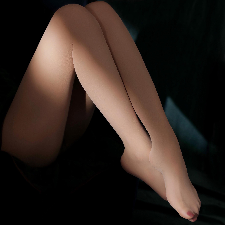 「绫天生丝滑」【霜】360度无缝裆10D丝袜天鹅绒细腻连裤袜超薄