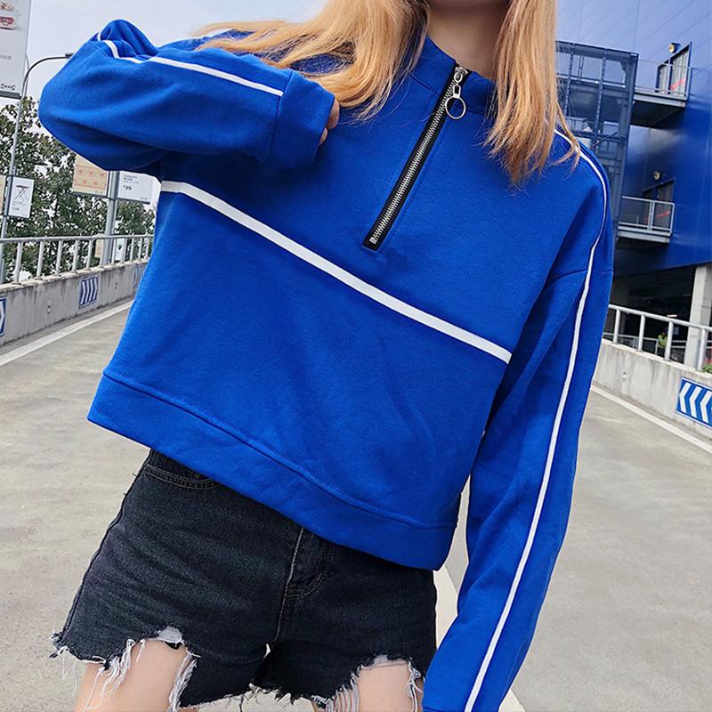 短款卫衣2018秋冬装新款女学生酷酷的长袖原宿风宽松外套潮上衣服