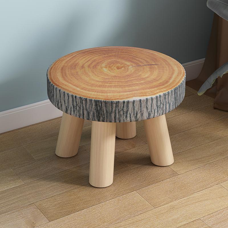 小凳子家用实木圆矮凳可爱儿童沙发凳宝宝椅子时尚卡通创意小板凳