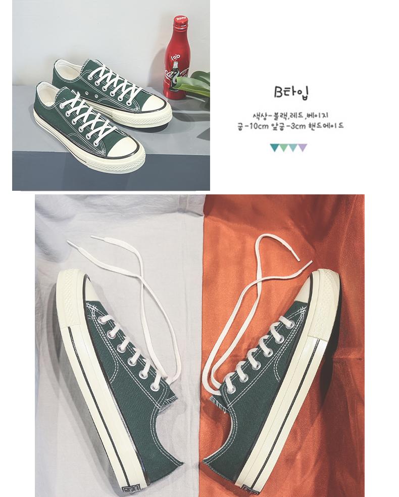 帆布鞋男年春季新款韩版低帮布鞋休閒板鞋高筒潮鞋情侣小白鞋详细照片