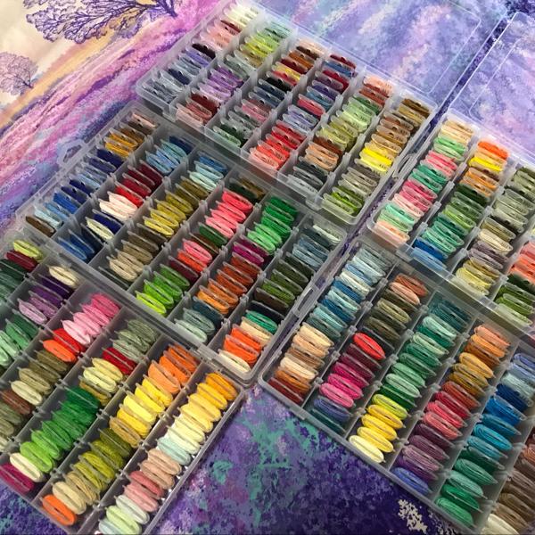 Tự làm thủ công nguyên liệu khâu dòng màu 100 dòng với dòng thiếu nhiều màu thêu dòng chủ đề sợi khâu màu - Công cụ & phụ kiện Cross-stitch