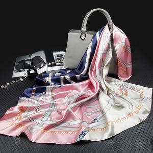 上海故事大方巾丝巾女百搭围巾纱巾