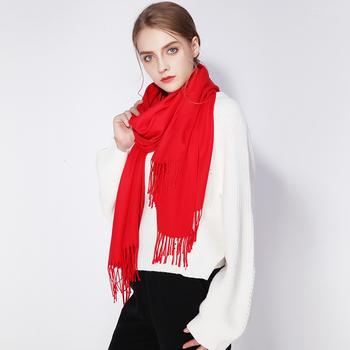 上海故事韩版羊毛羊绒加厚保暖围巾