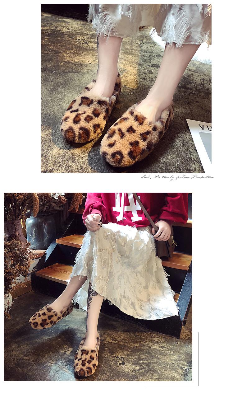 〖全館免運〗豆豆鞋 同款豆豆鞋女正韓加絨刷毛棉瓢鞋 【安可居】