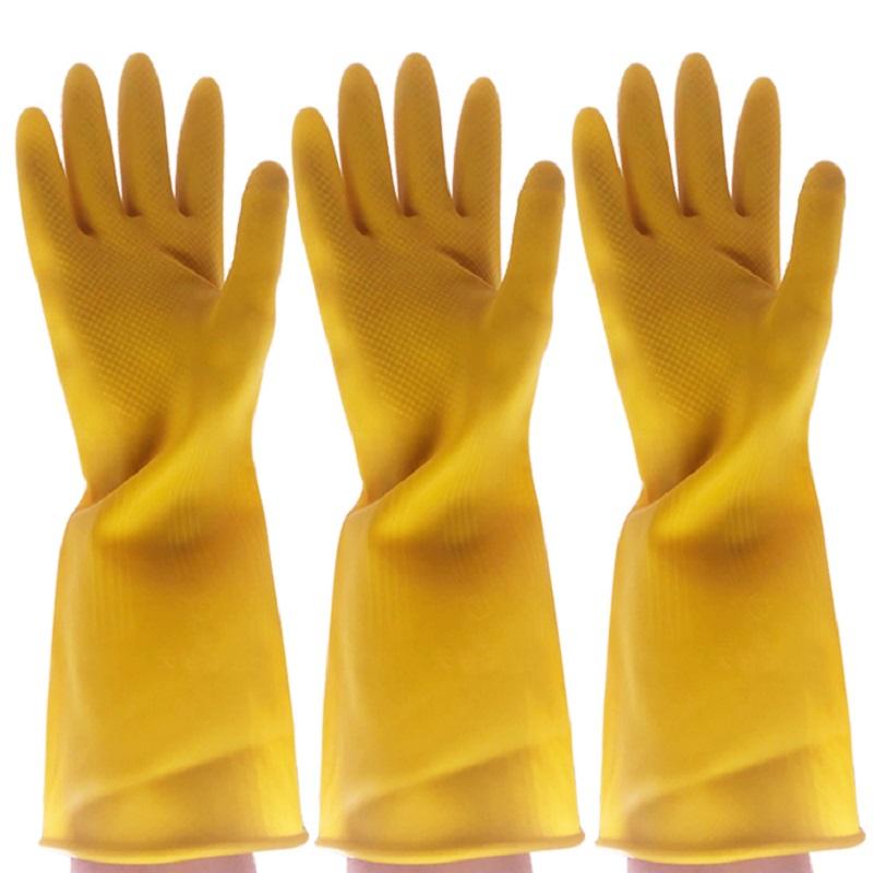 加厚橡胶手套家用厨房洗碗耐用防水牛筋劳保清洁胶皮手套耐酸碱天猫超市优惠券照片