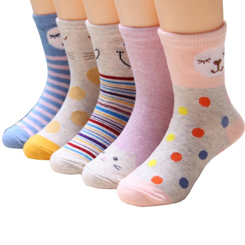 女童袜子纯棉粉色春秋季薄款宝宝中大童儿童学生棉袜3-5-7-9-12岁