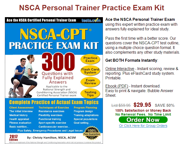 NSCA CPT American Physical Fitness Association personal