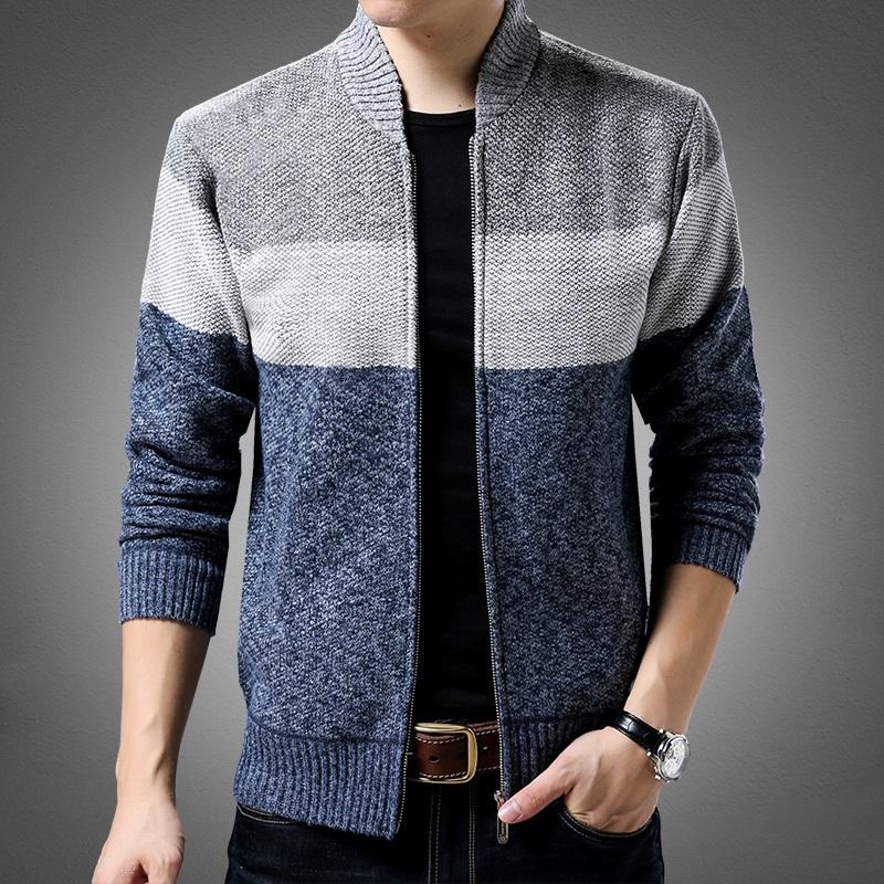 男秋冬季针织开衫立领针织衫韩版2018毛衣男士针织衫休闲潮男外套