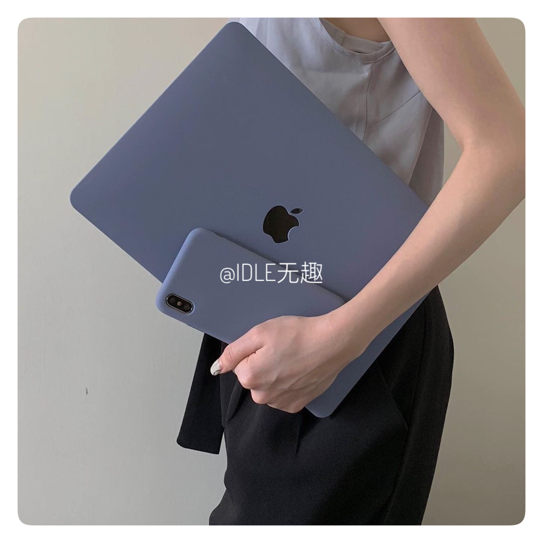 IDLE無趣?Macbook蘋果筆電保護殼pro普羅旺斯藍流沙殼12/13/15 【全館免運】
