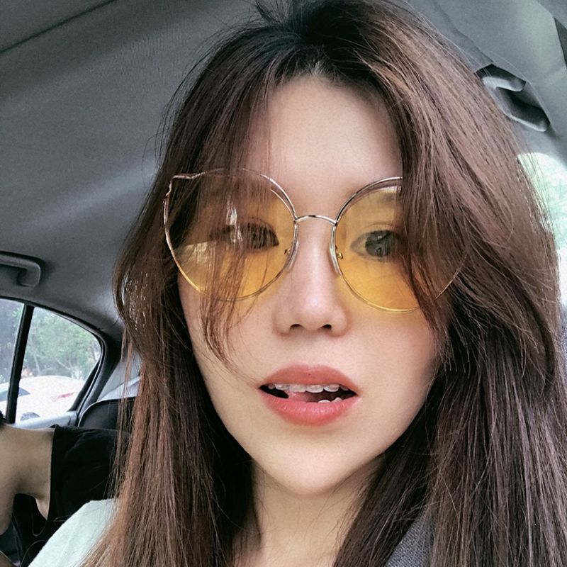 b764f913c9 Sunglasses female 2018 new Korea Harajuku soft sister sunglasses female cat eyes  ins tide net red