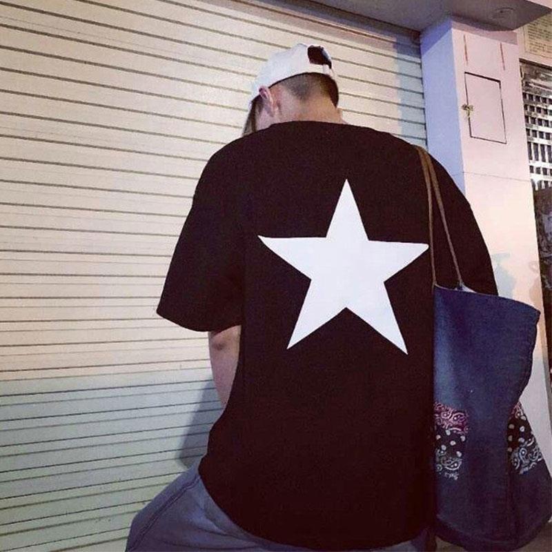 Phiên bản chính xác FOG FEAR OF GOD dòng đôi ESSENTIALS tay áo ngắn California hạn chế xu hướng áo thun ngôi sao năm cánh - Áo phông ngắn