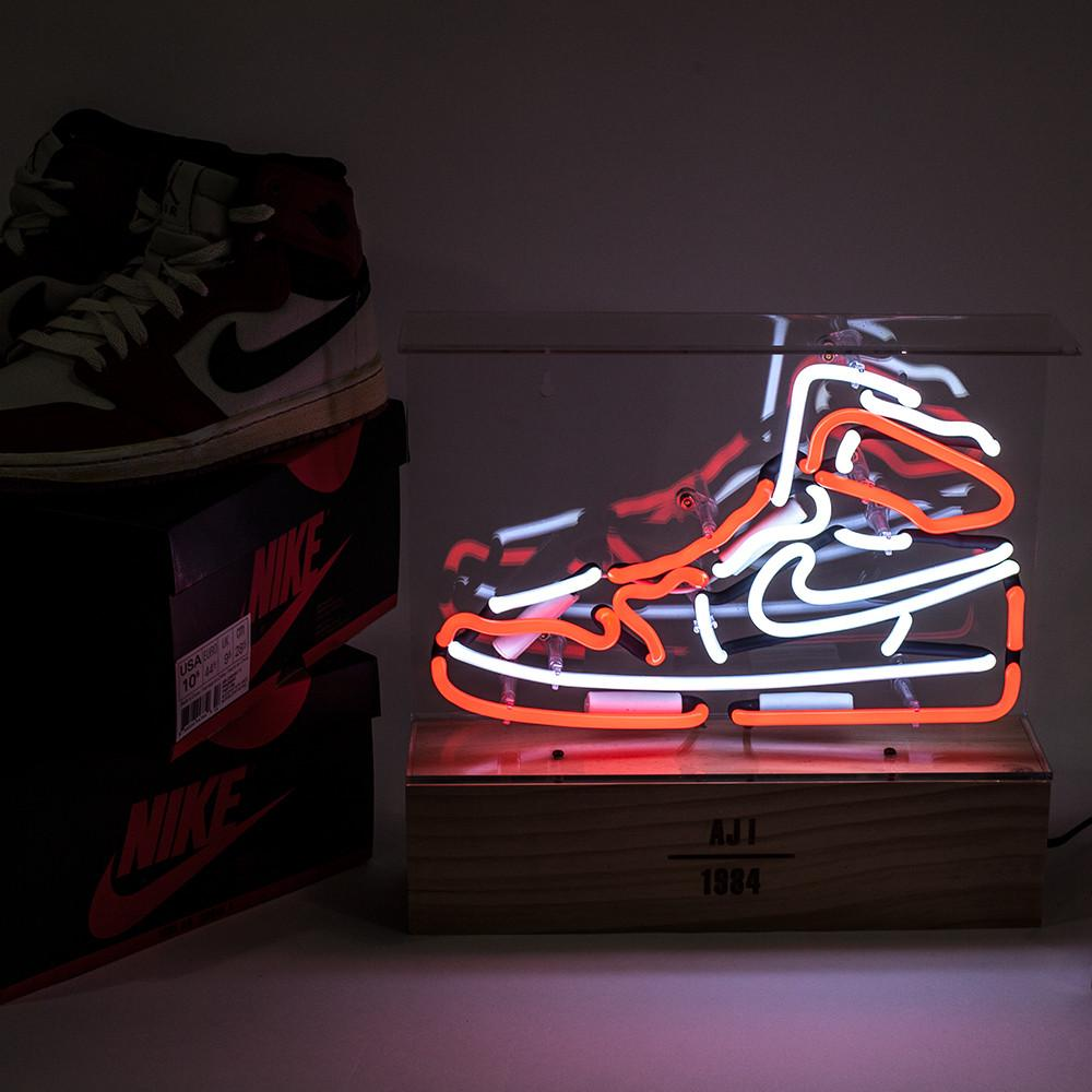 buy popular 3cc5a ee32f American Limited Edition Air Jordan Neon Light Shoe Shaped Neon LED  Decorative Light Table Lamp