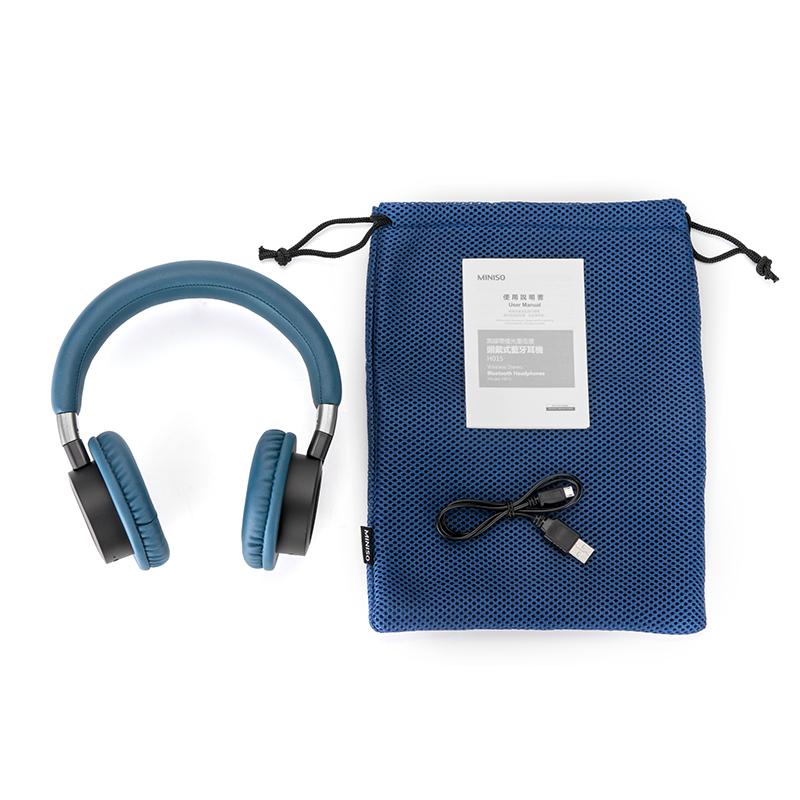 2638935a727 MINISO famous products wireless with light subwoofer headset Bluetooth  headset sports fitness mobile phone universal