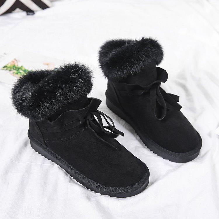 【网红同款】女短筒皮毛一体雪地靴