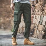 2019 spring new casual harem pants men's overalls pants feet