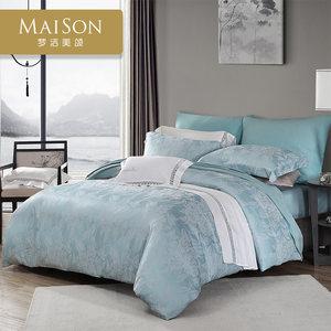梦洁家纺欧式提花四件套双人床上用品双人欧美被罩床上四件套