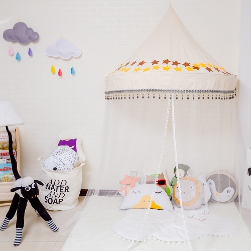 Nordic Style Childrenu0027s Tent Bed Canopy Bed Curtain Indoor Game Room Baby  Reading Corner Half