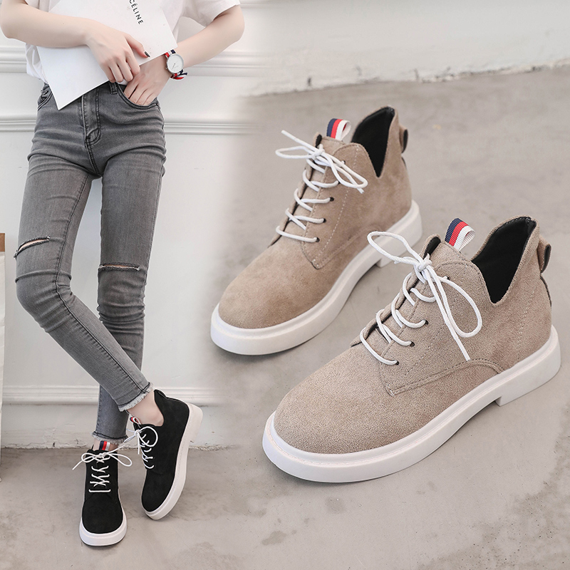 New single casual high-top round ankle boots 59