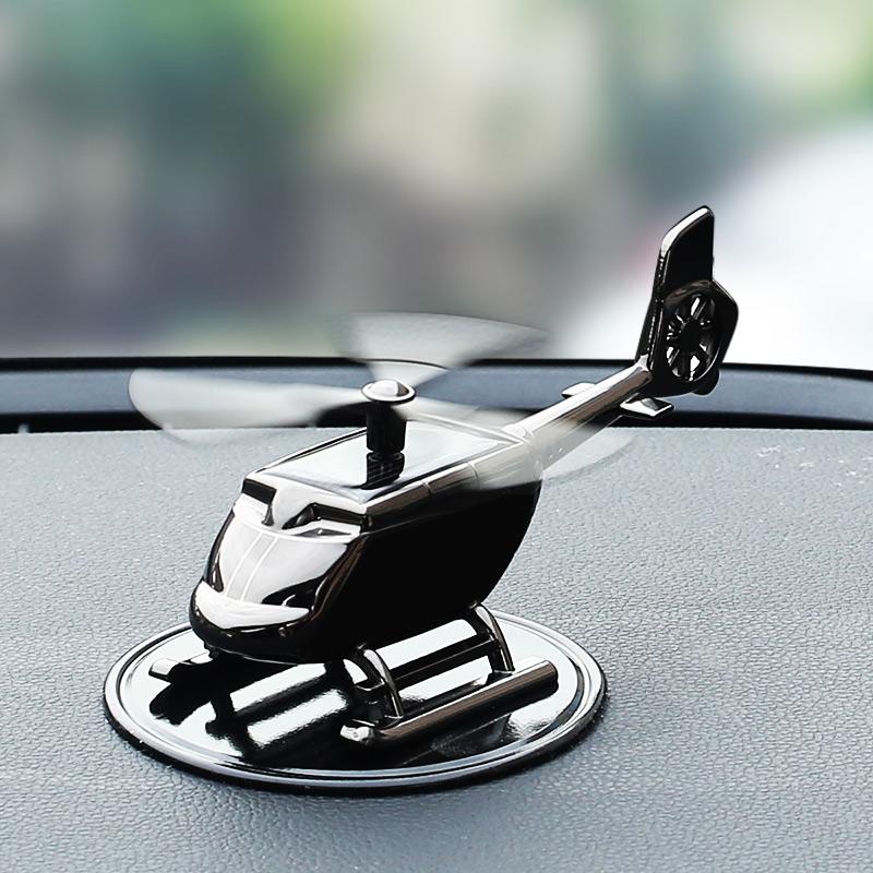 車載汽車車內裝飾品用品大全太陽能飛機小車車上中控臺擺件高檔男
