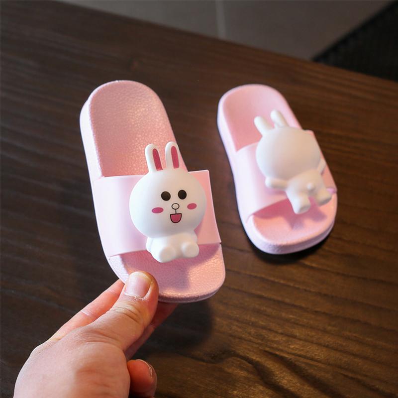 可爱儿童夏拖鞋公主小童家居凉拖防滑软底1-2岁3女女童婴幼儿宝宝