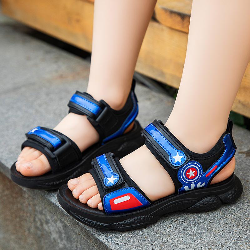 2020夏季新款男童凉鞋学生中大童女孩软底休闲透气防水耐磨沙滩鞋